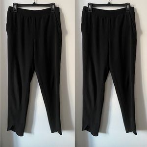 H&M Peter Pan/Split Leg Black Dress Pants
